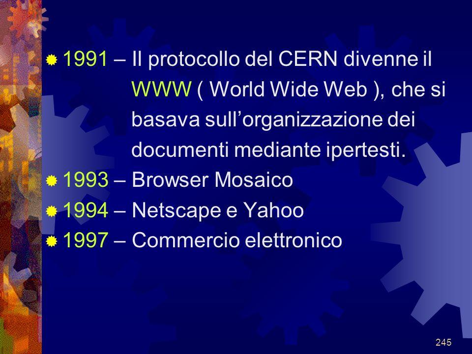 1991 – Il protocollo del CERN divenne il