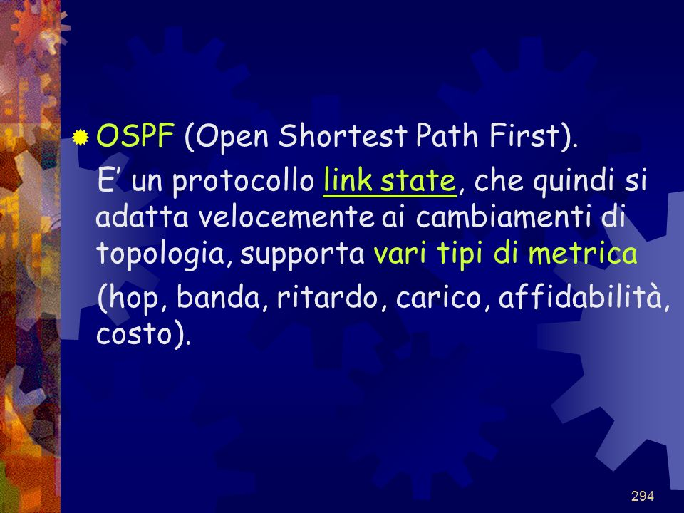 OSPF (Open Shortest Path First).