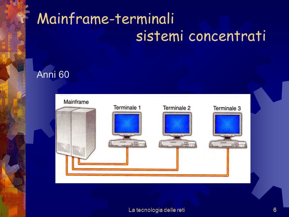 Mainframe-terminali sistemi concentrati