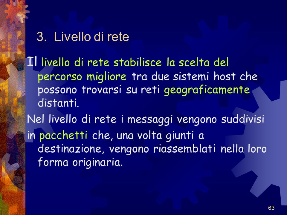 3. Livello di rete