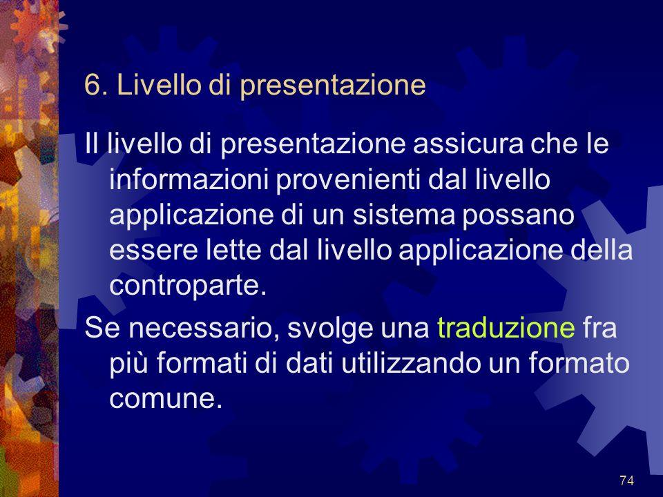 6. Livello di presentazione