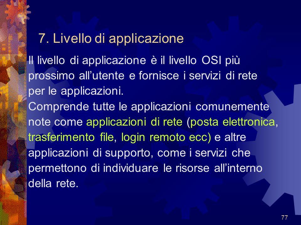 7. Livello di applicazione