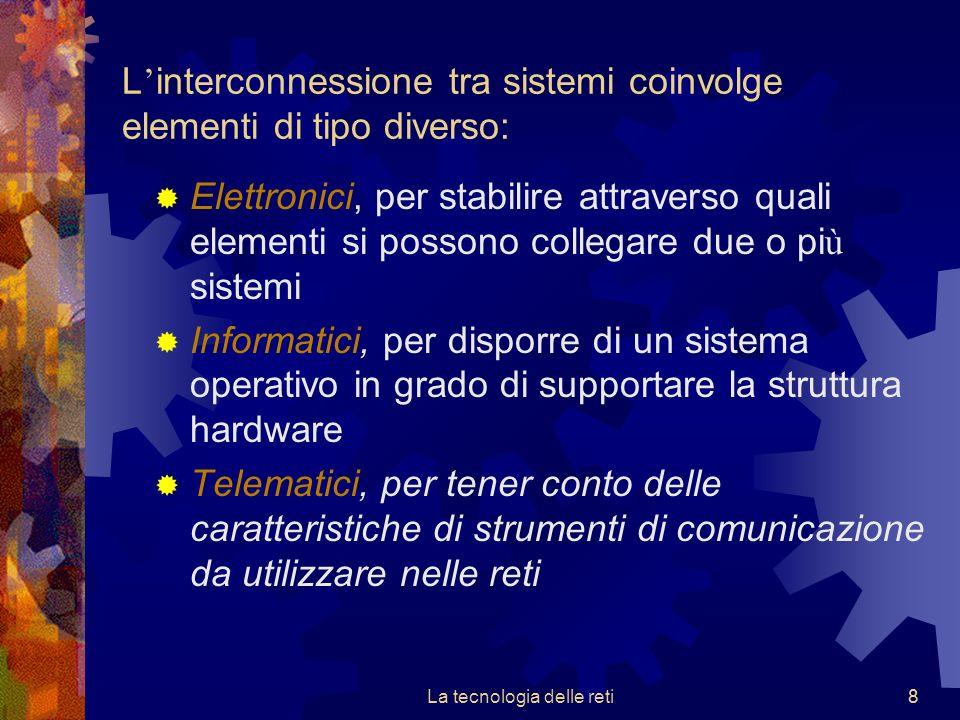 L'interconnessione tra sistemi coinvolge elementi di tipo diverso: