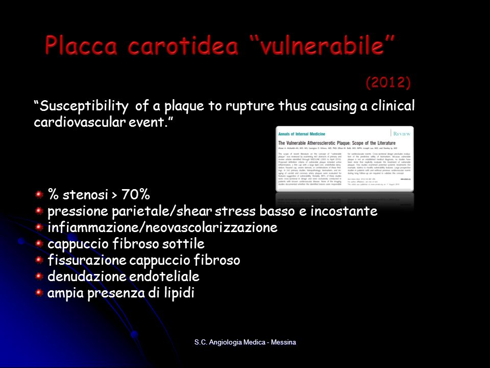 Placca carotidea vulnerabile