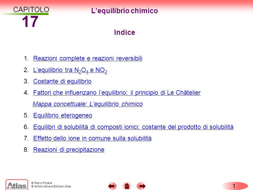 17 CAPITOLO L'equilibrio chimico Indice