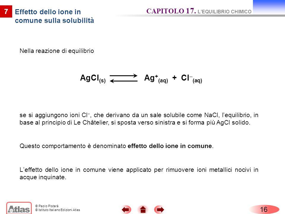 Effetto dello ione in comune sulla solubilità