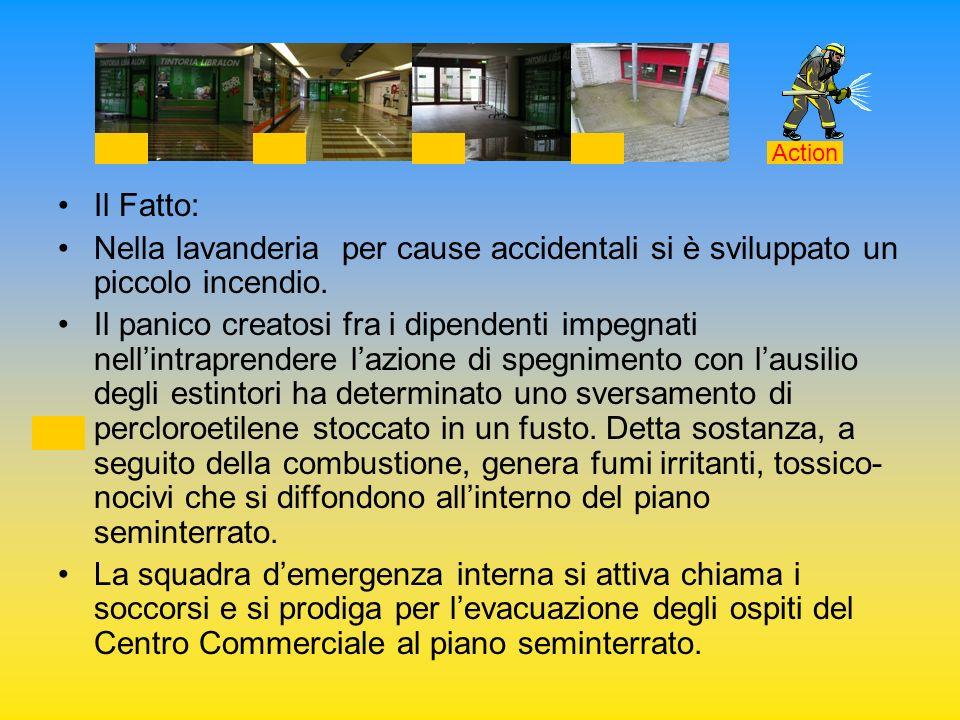 ActionIl Fatto: Nella lavanderia per cause accidentali si è sviluppato un piccolo incendio.