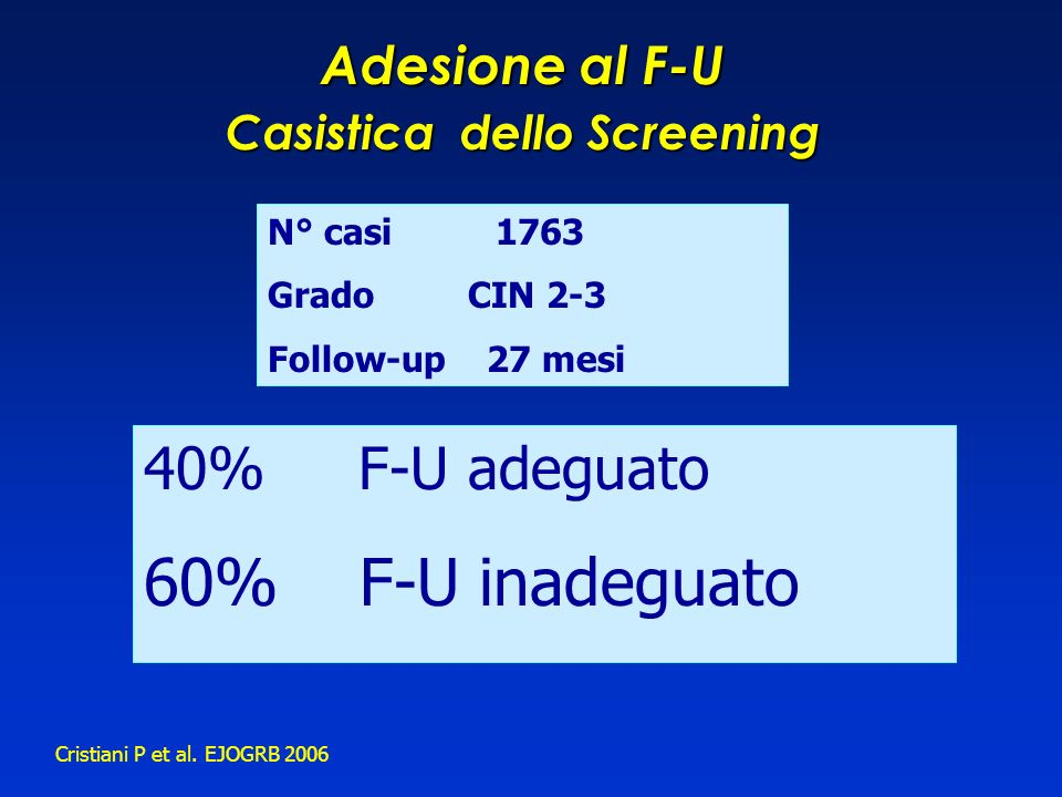 Casistica dello Screening
