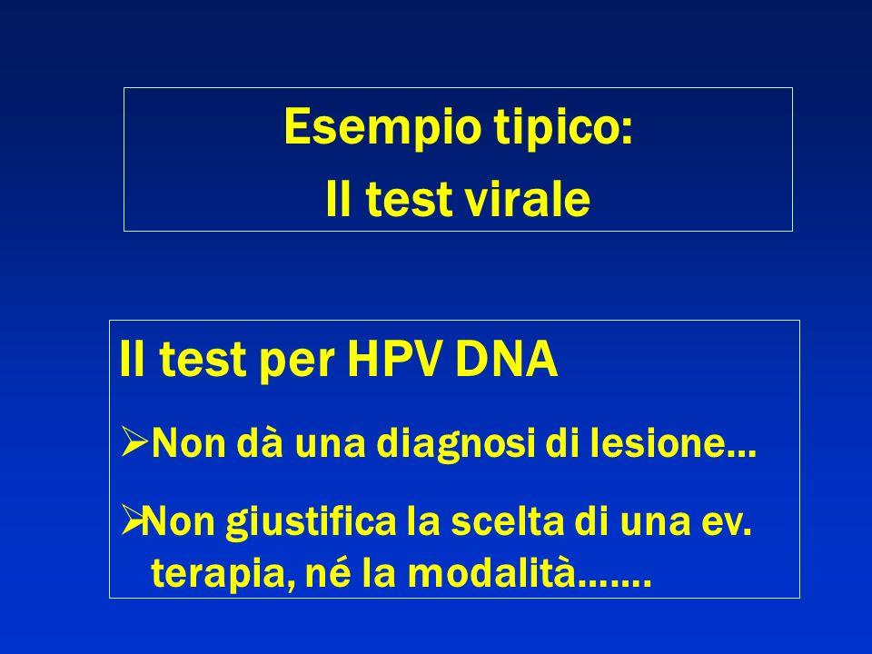 Esempio tipico: Il test virale