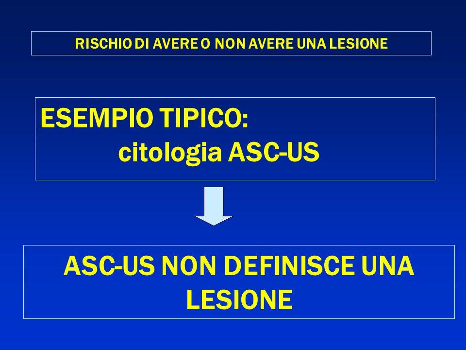 ASC-US NON DEFINISCE UNA LESIONE