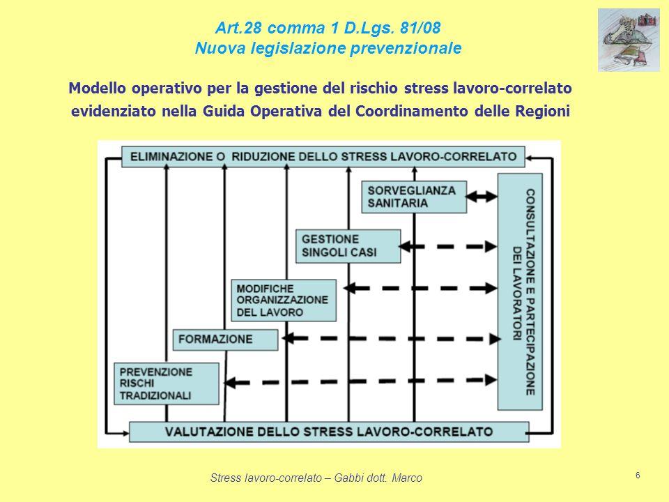 Art.28 comma 1 D.Lgs. 81/08 Nuova legislazione prevenzionale