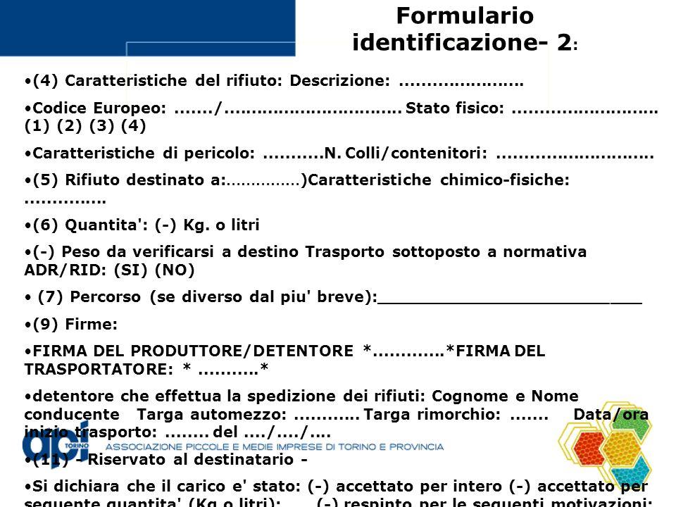 Formulario identificazione- 2: