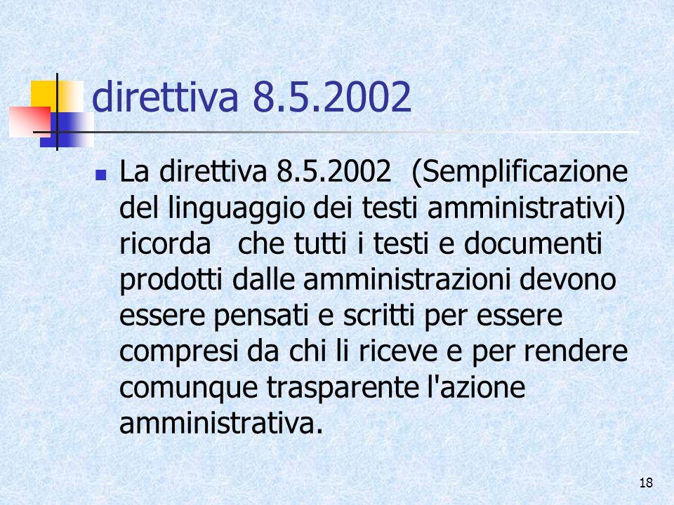 direttiva 8.5.2002