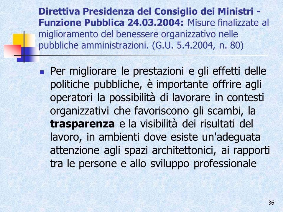 Direttiva Presidenza del Consiglio dei Ministri - Funzione Pubblica 24