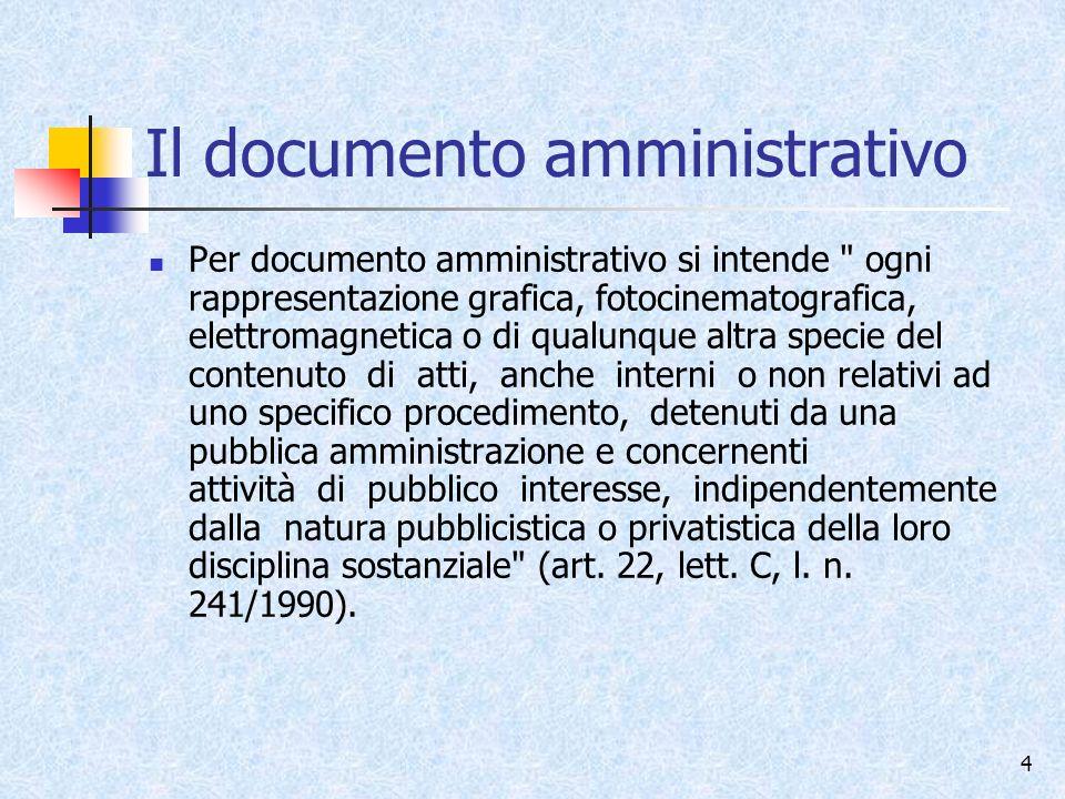 Il documento amministrativo