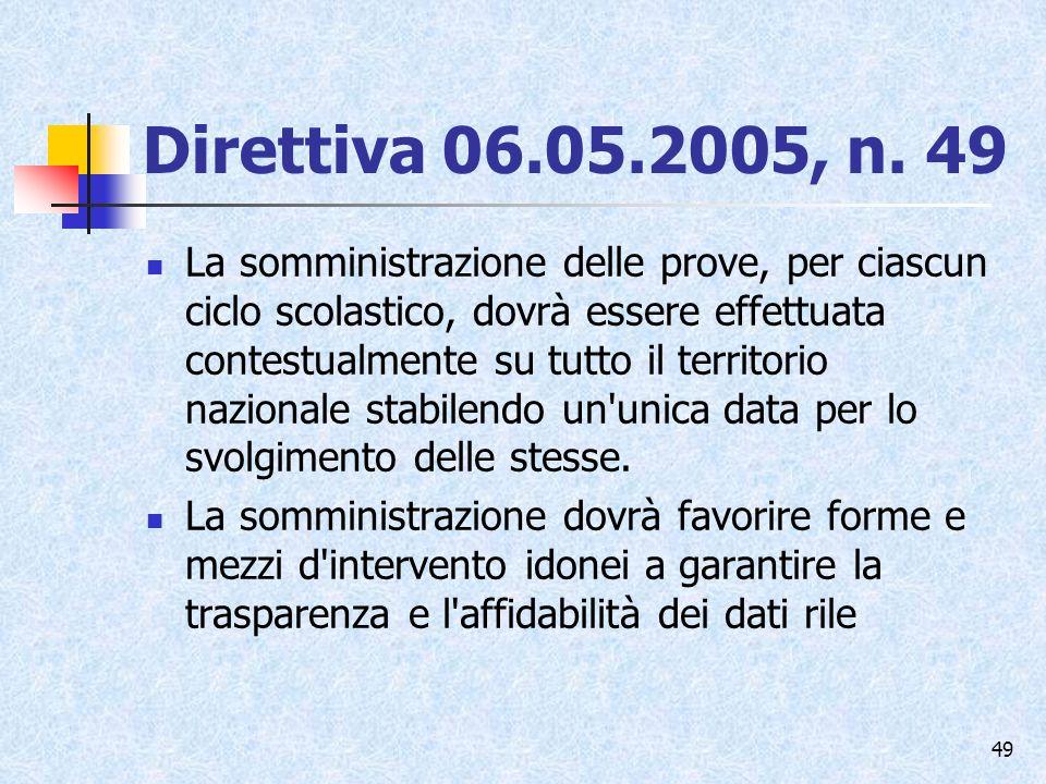 Direttiva 06.05.2005, n. 49