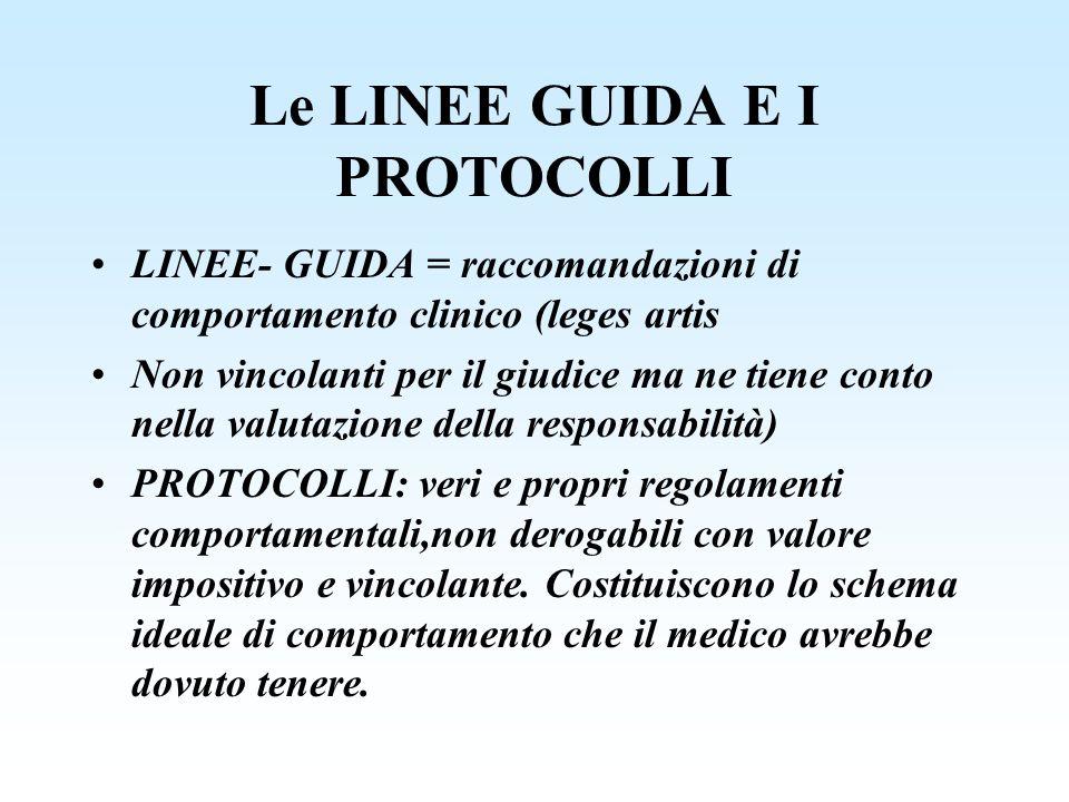 Le LINEE GUIDA E I PROTOCOLLI