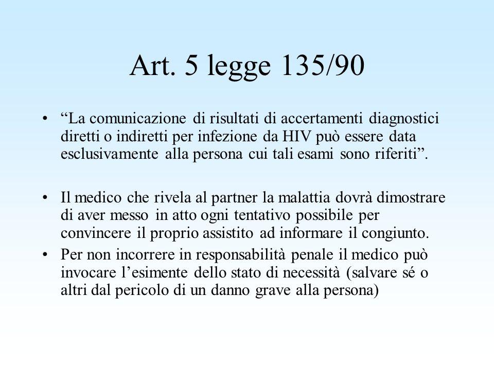 Art. 5 legge 135/90