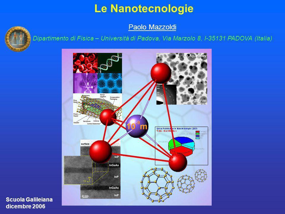 Le Nanotecnologie Paolo Mazzoldi