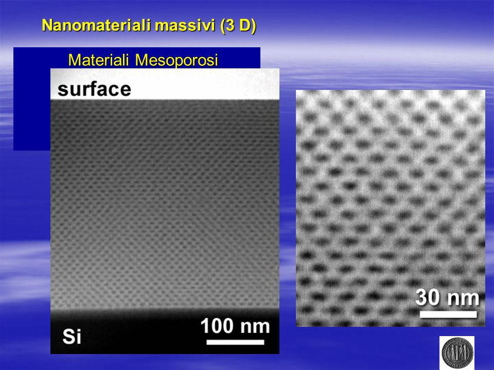Nanomateriali massivi (3 D)