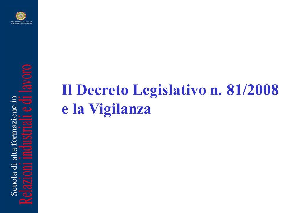 Il Decreto Legislativo n. 81/2008