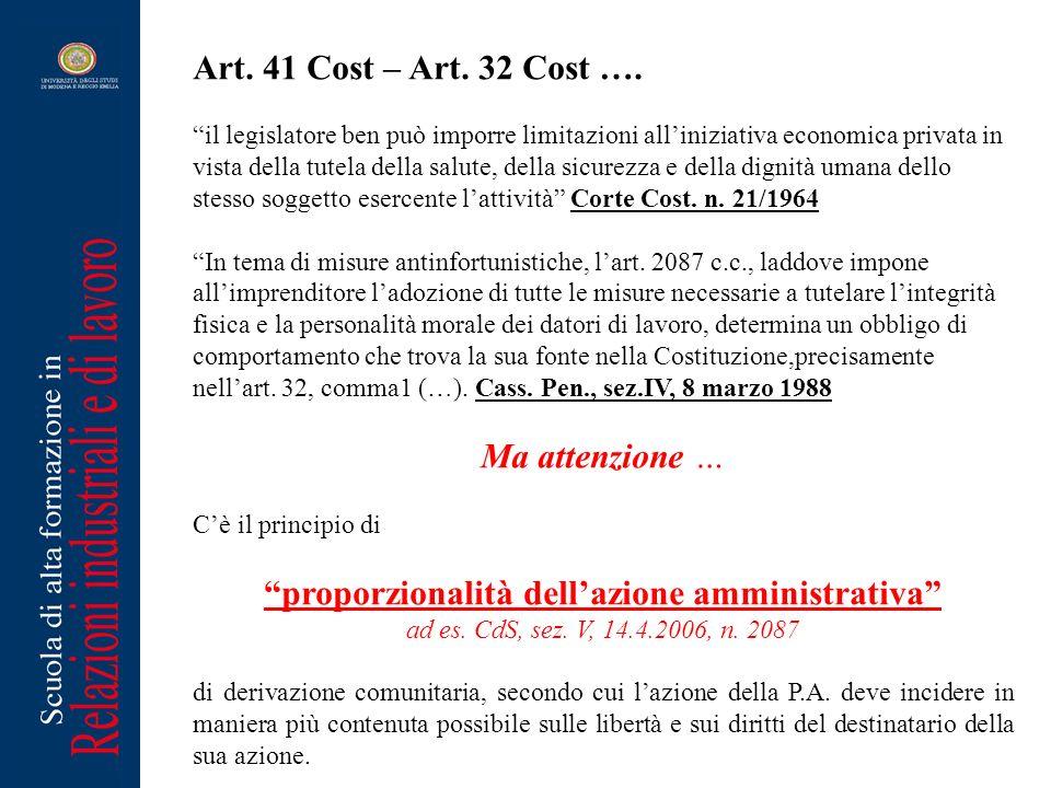 proporzionalità dell'azione amministrativa