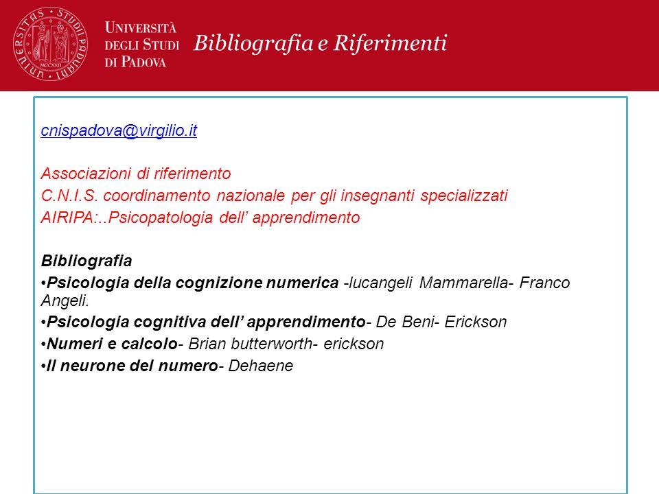 Bibliografia e Riferimenti