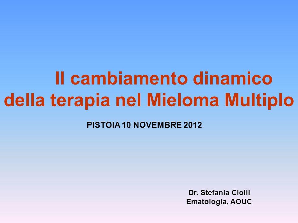 Il cambiamento dinamico della terapia nel Mieloma Multiplo