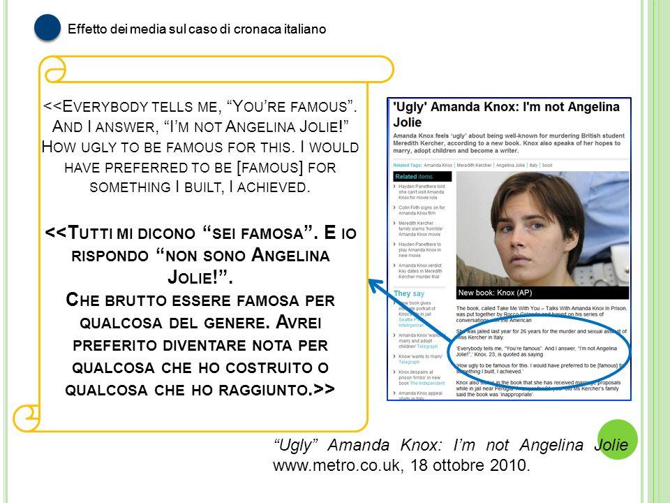 Effetto dei media sul caso di cronaca italiano