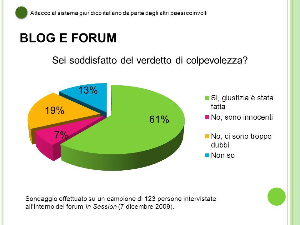 Attacco al sistema giuridico italiano da parte degli altri paesi coinvolti