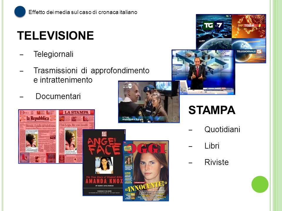 TELEVISIONE STAMPA Telegiornali