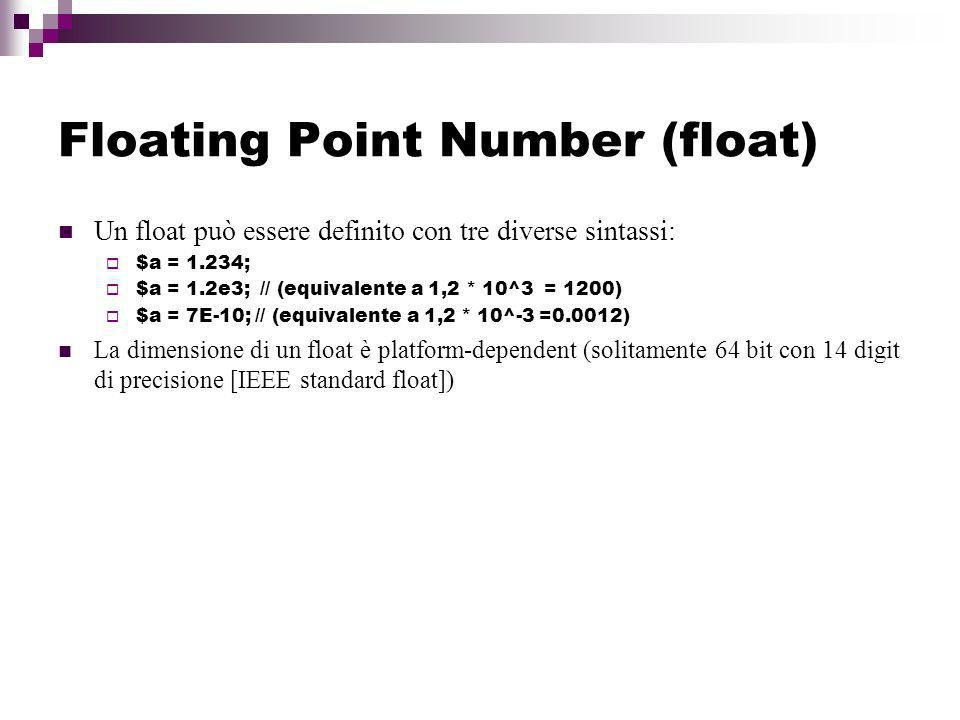 Floating Point Number (float)