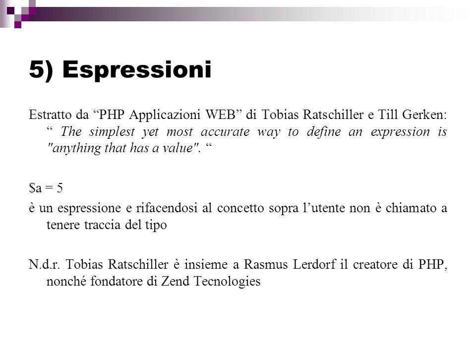 5) Espressioni