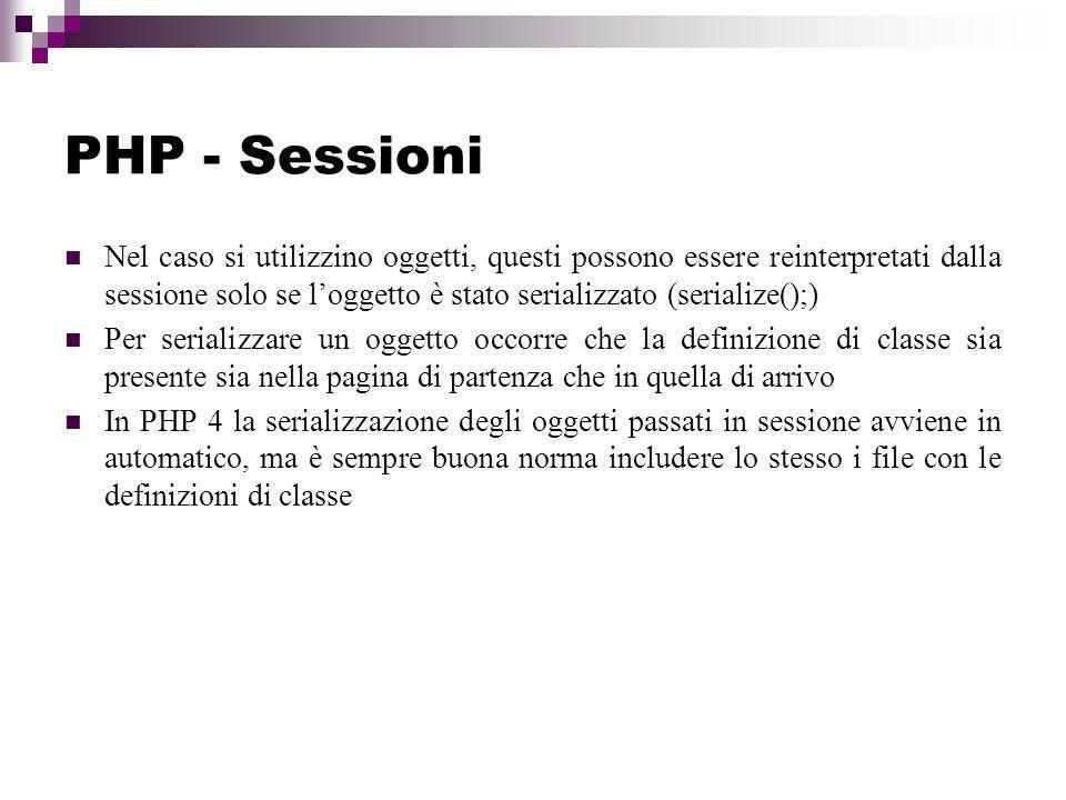 PHP - Sessioni