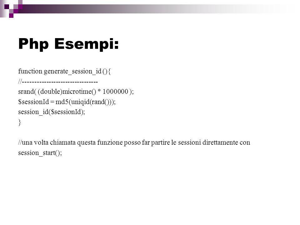 Php Esempi: function generate_session_id (){