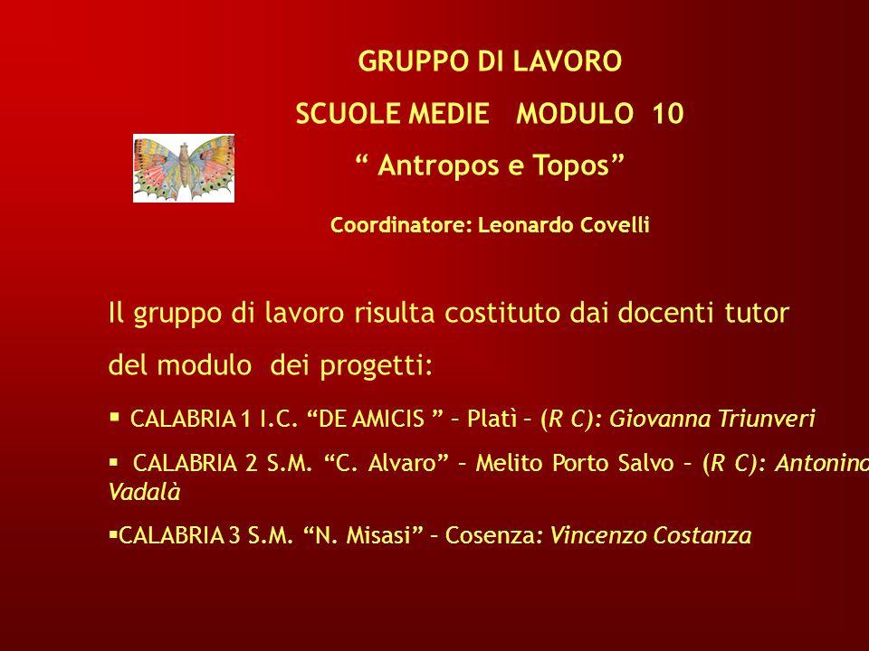 Coordinatore: Leonardo Covelli