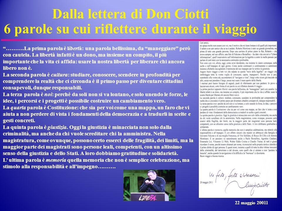 Dalla lettera di Don Ciotti 6 parole su cui riflettere durante il viaggio