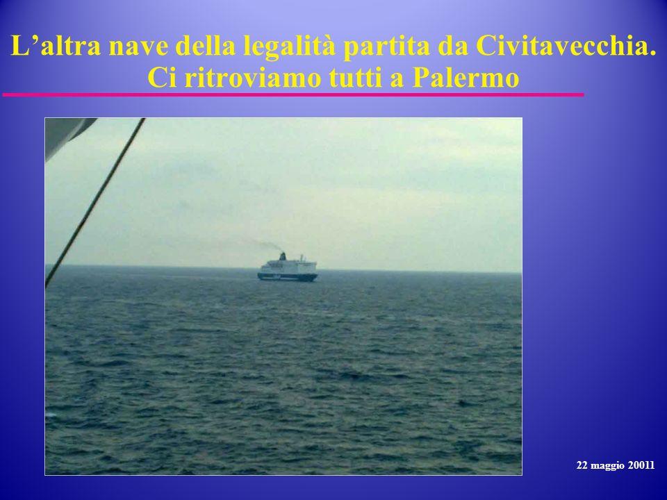 L'altra nave della legalità partita da Civitavecchia