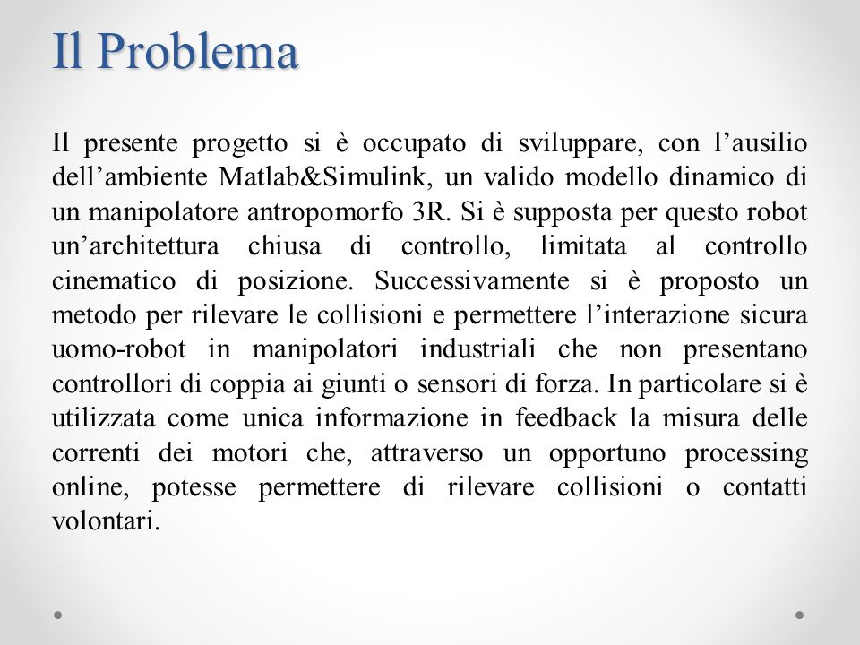 Il Problema