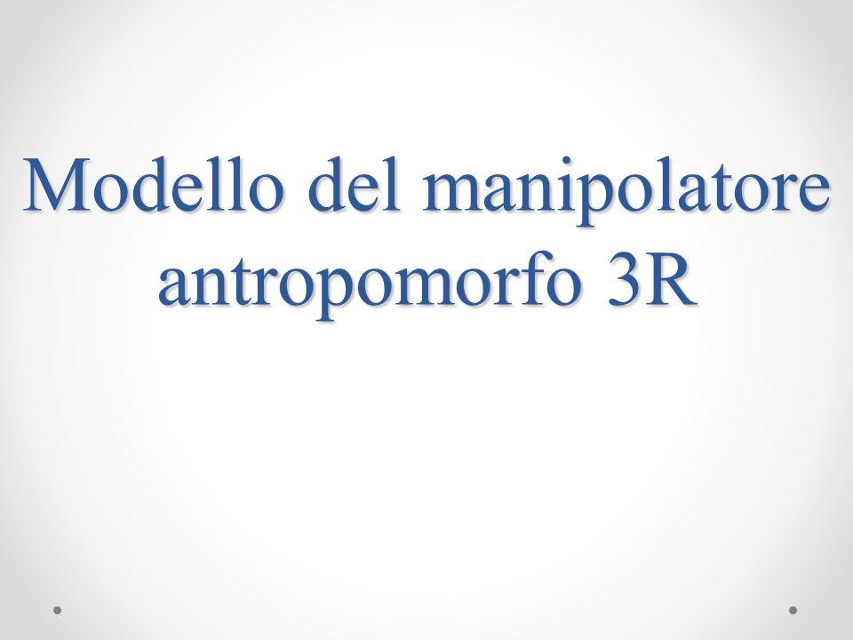 Modello del manipolatore antropomorfo 3R