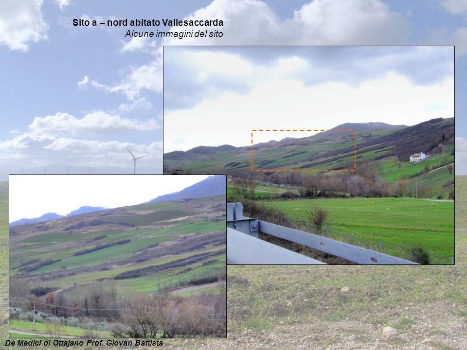 Sito a – nord abitato Vallesaccarda Alcune immagini del sito