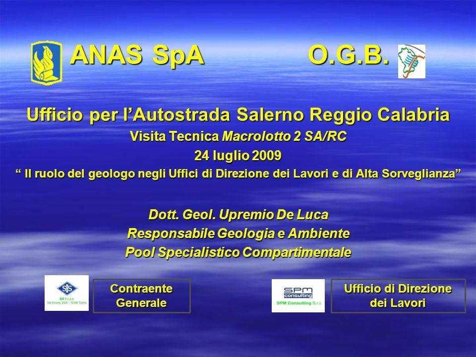 ANAS SpA O.G.B. Ufficio per l'Autostrada Salerno Reggio Calabria