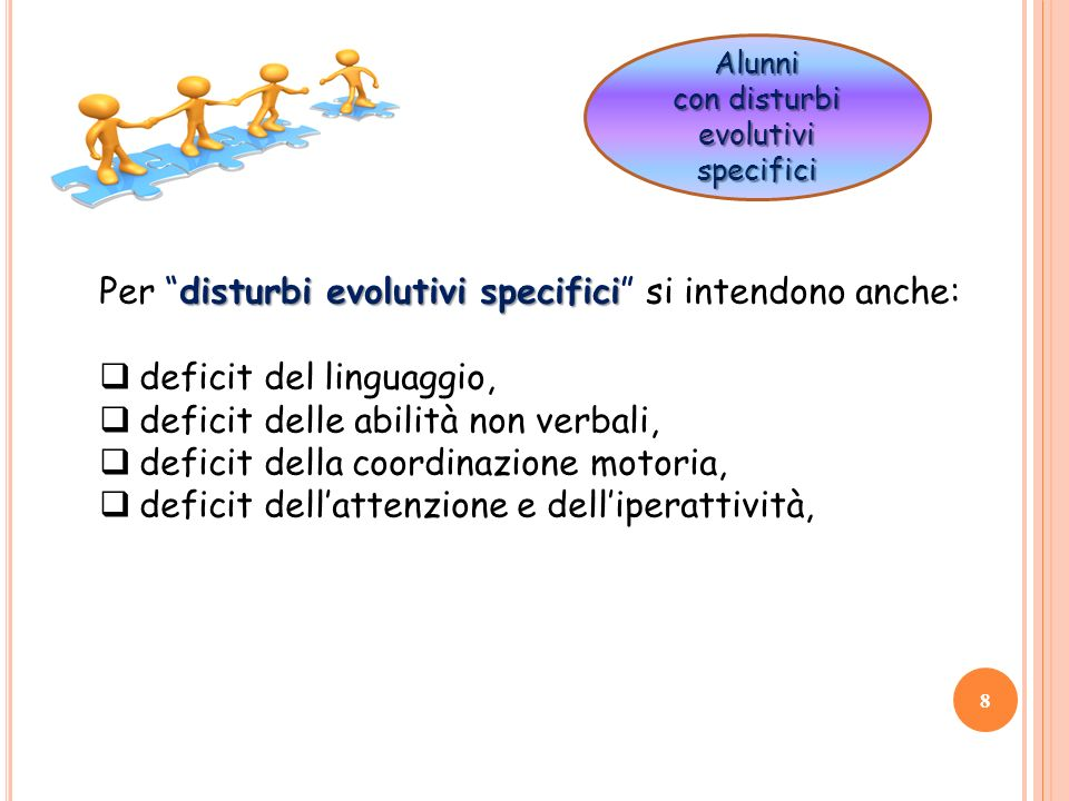 con disturbi evolutivi specifici