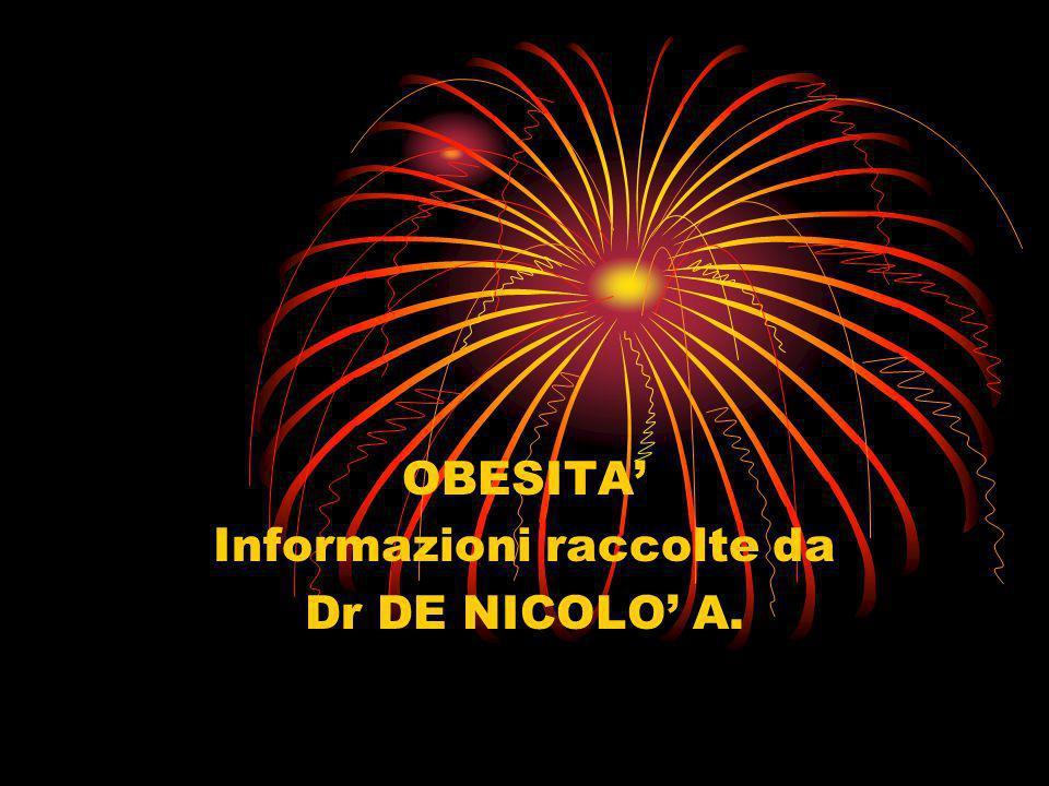 OBESITA' Informazioni raccolte da Dr DE NICOLO' A.