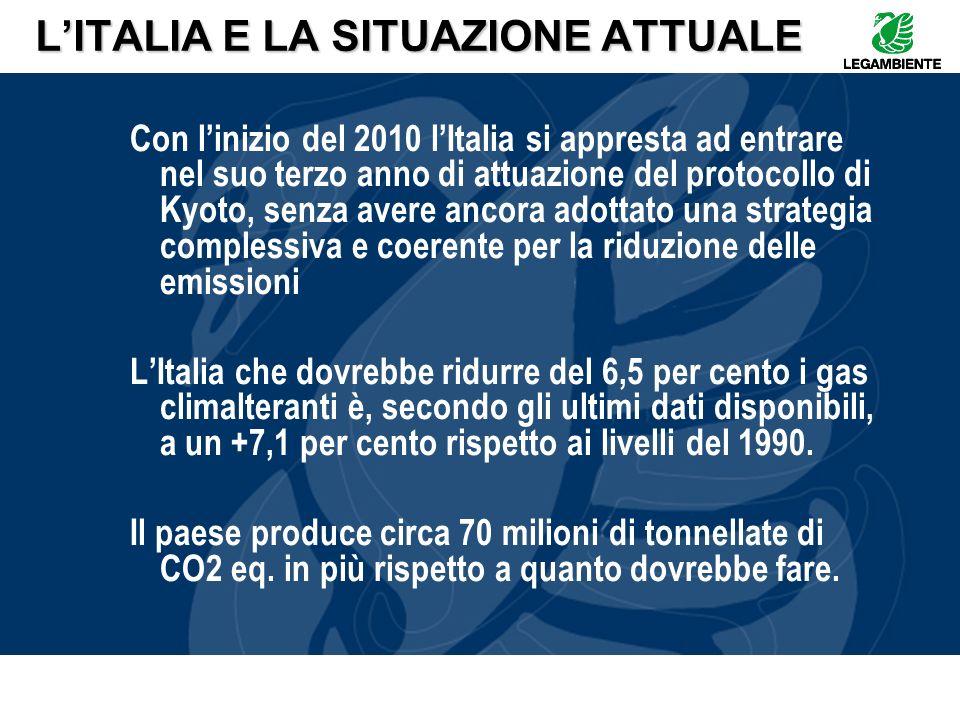 L'ITALIA E LA SITUAZIONE ATTUALE