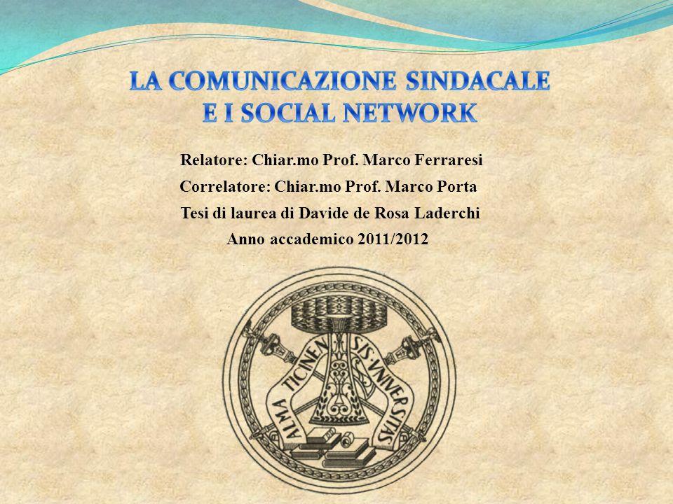 LA COMUNICAZIONE SINDACALE E I SOCIAL NETWORK