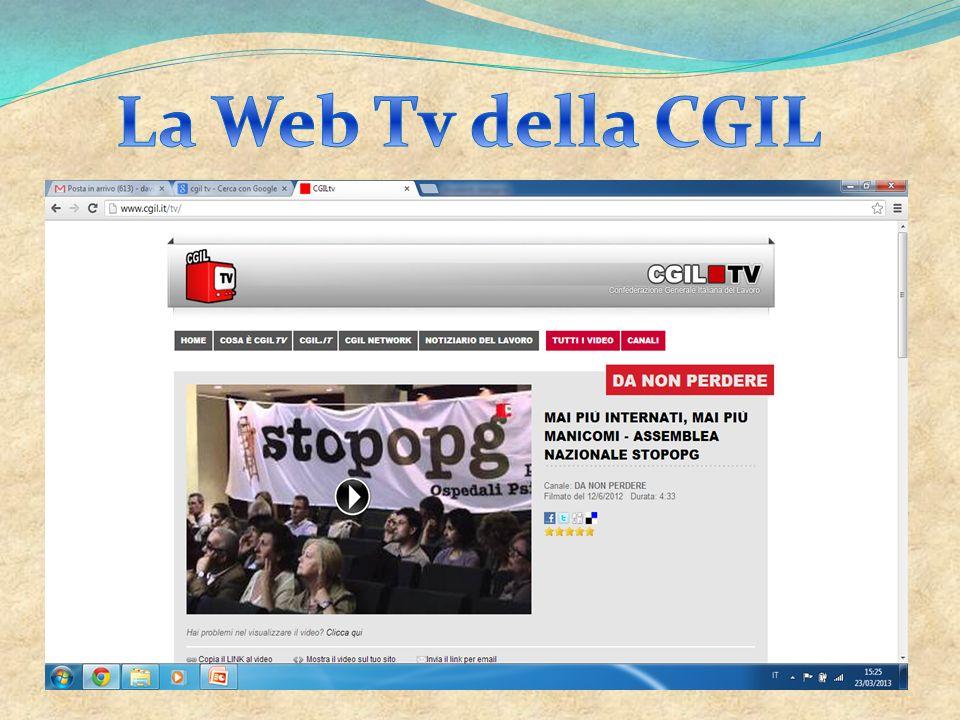 La Web Tv della CGIL