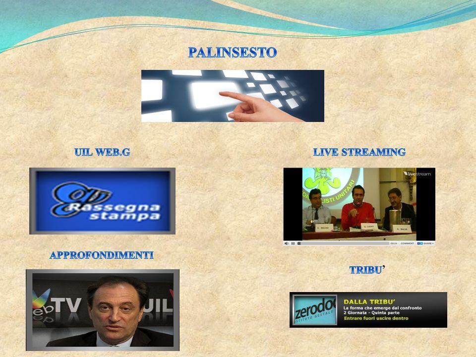 PALINSESTO UIL WEB.G LIVE STREAMING APPROFONDIMENTI TRIBU'