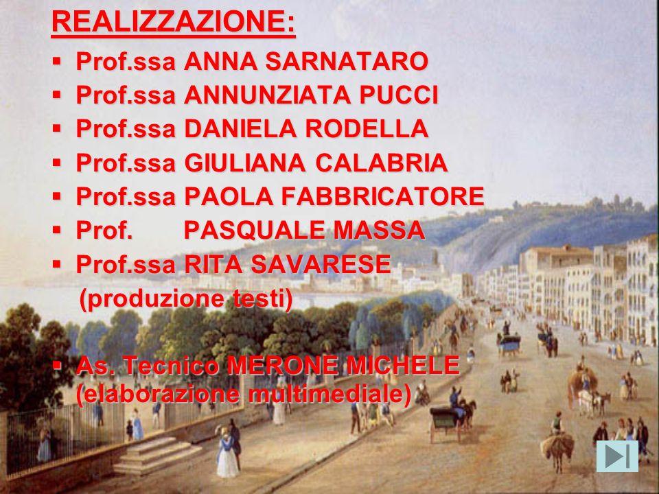 REALIZZAZIONE: Prof.ssa ANNA SARNATARO Prof.ssa ANNUNZIATA PUCCI
