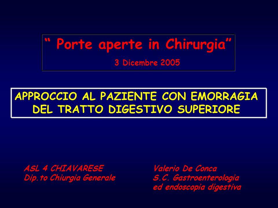Porte aperte in Chirurgia 3 Dicembre 2005